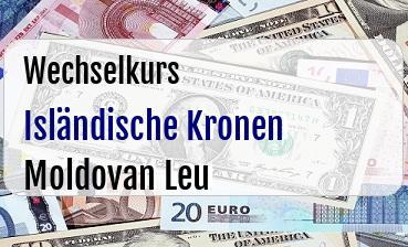Isländische Kronen in Moldovan Leu