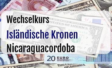 Isländische Kronen in Nicaraguacordoba
