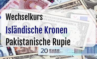 Isländische Kronen in Pakistanische Rupie