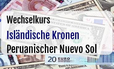 Isländische Kronen in Peruanischer Nuevo Sol