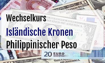 Isländische Kronen in Philippinischer Peso