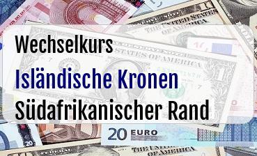 Isländische Kronen in Südafrikanischer Rand