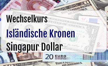 Isländische Kronen in Singapur Dollar