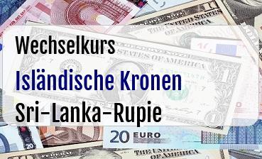 Isländische Kronen in Sri-Lanka-Rupie