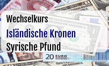 Isländische Kronen in Syrische Pfund