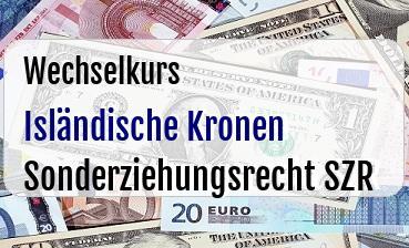 Isländische Kronen in Sonderziehungsrecht SZR