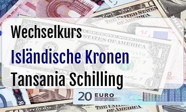Isländische Kronen in Tansania Schilling