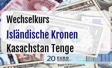 Isländische Kronen in Kasachstan Tenge