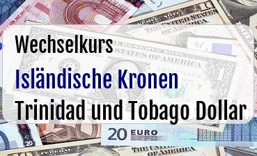 Isländische Kronen in Trinidad und Tobago Dollar