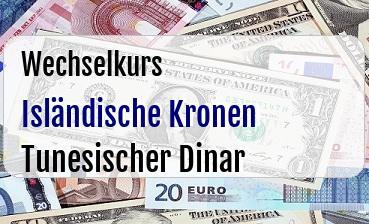 Isländische Kronen in Tunesischer Dinar