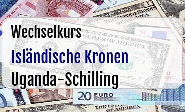 Isländische Kronen in Uganda-Schilling
