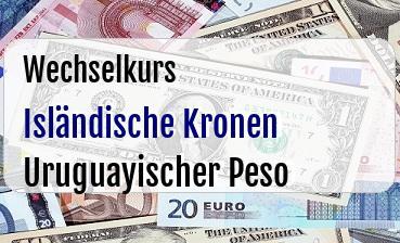 Isländische Kronen in Uruguayischer Peso