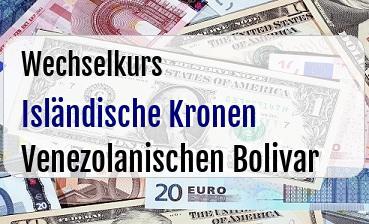 Isländische Kronen in Venezolanischen Bolivar