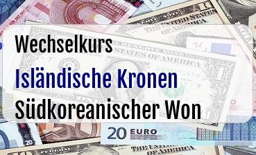 Isländische Kronen in Südkoreanischer Won