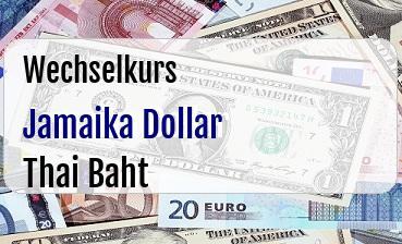 Jamaika Dollar in Thai Baht