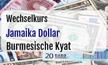 Jamaika Dollar in Burmesische Kyat