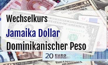 Jamaika Dollar in Dominikanischer Peso