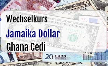 Jamaika Dollar in Ghana Cedi