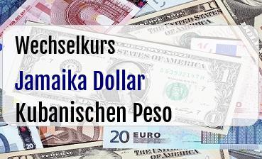 Jamaika Dollar in Kubanischen Peso