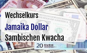 Jamaika Dollar in Sambischen Kwacha