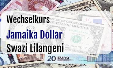 Jamaika Dollar in Swazi Lilangeni