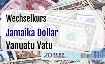 Jamaika Dollar in Vanuatu Vatu