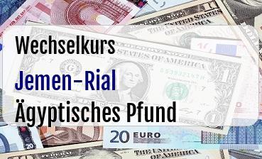 Jemen-Rial in Ägyptisches Pfund