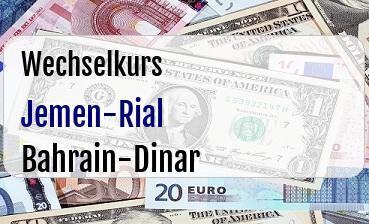 Jemen-Rial in Bahrain-Dinar