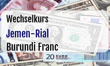 Jemen-Rial in Burundi Franc