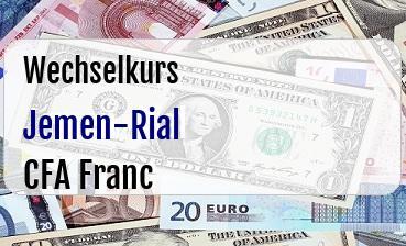 Jemen-Rial in CFA Franc