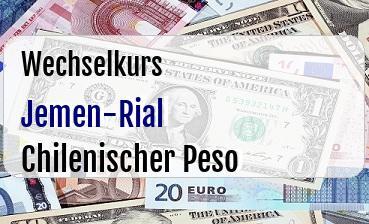 Jemen-Rial in Chilenischer Peso