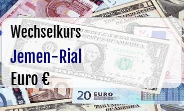 Jemen-Rial in Euro