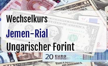 Jemen-Rial in Ungarischer Forint