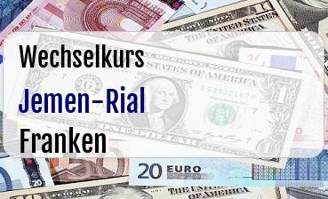 Jemen-Rial in Schweizer Franken