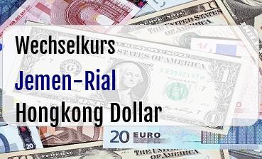 Jemen-Rial in Hongkong Dollar