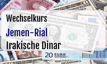 Jemen-Rial in Irakische Dinar