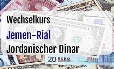 Jemen-Rial in Jordanischer Dinar