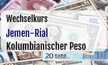 Jemen-Rial in Kolumbianischer Peso