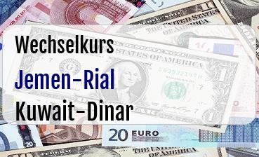 Jemen-Rial in Kuwait-Dinar