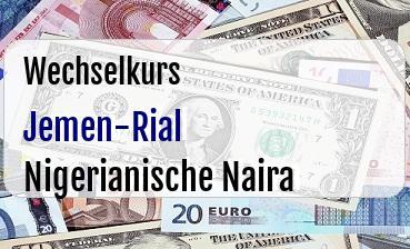 Jemen-Rial in Nigerianische Naira