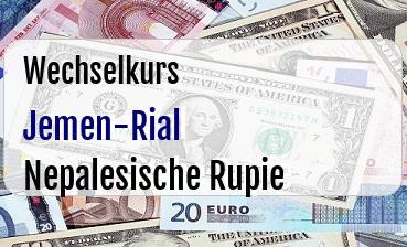 Jemen-Rial in Nepalesische Rupie