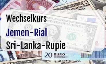 Jemen-Rial in Sri-Lanka-Rupie