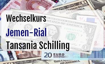 Jemen-Rial in Tansania Schilling
