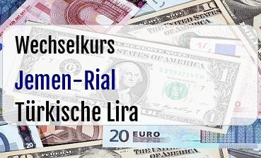 Jemen-Rial in Türkische Lira
