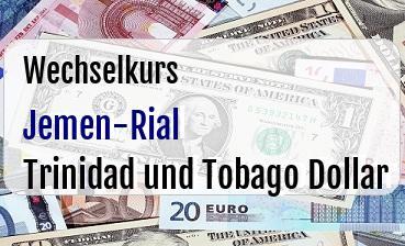 Jemen-Rial in Trinidad und Tobago Dollar