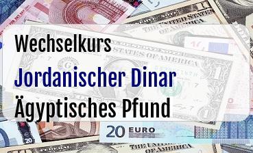 Jordanischer Dinar in Ägyptisches Pfund
