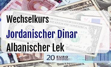 Jordanischer Dinar in Albanischer Lek