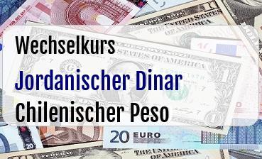 Jordanischer Dinar in Chilenischer Peso