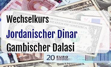 Jordanischer Dinar in Gambischer Dalasi