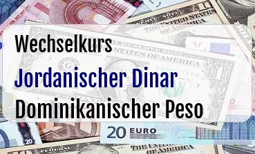Jordanischer Dinar in Dominikanischer Peso